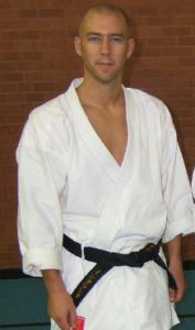 Corin Pegden Wado-Ryu Karate Do instructor in Surrey and Hampshire