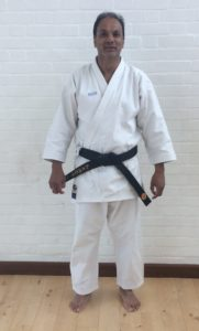 Amir Din new black belt Guildford Karate Academy